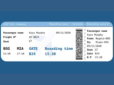 Boarding Pass - Daily UI 024 boarding pass 024 design daily 100 challenge dailyui adobe xd