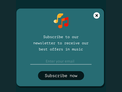 Subscribe modal - Daily UI 026 subscribe button modal design daily 100 challenge dailyui adobe xd