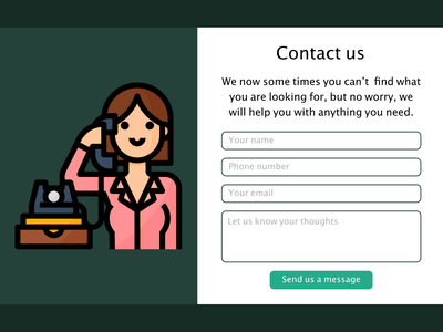 Contact Us - Daily UI 028 028 contact form contact us design daily 100 challenge dailyui adobe xd
