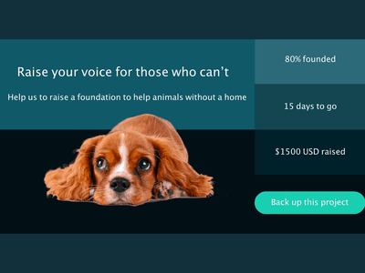 Crowdfunding Campaign - Daily UI 032 032 crowdfunding campaign dog design daily 100 challenge dailyui adobe xd