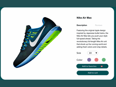 Customize product - Daily UI 033 nike air max tennis shoes customize product product design design daily 100 challenge dailyui adobe xd