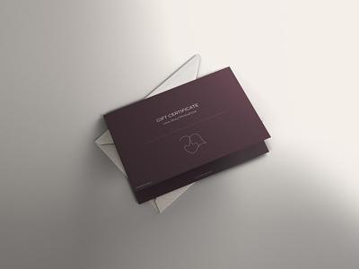 Gift Certificate envelope design gift certificate gift card branddesign illustration minimalistic visual identity branding design corporate identity brand identity branding