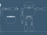 Robot sketch2