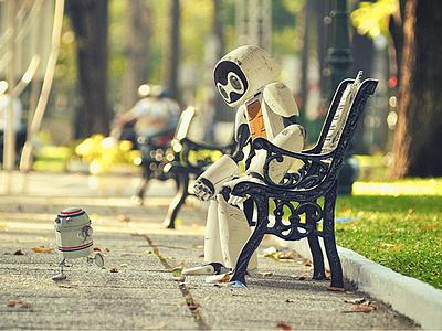 Running Robot-SIM robot wheel character 3d animation ukraine lviv kyiv