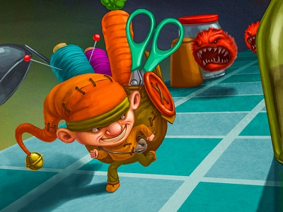 Little Thief     monsters escape game art 2d illustration character design