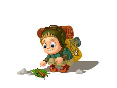 Family adventure story 1st shot     gameart 2d explorer illustration bug adventure family