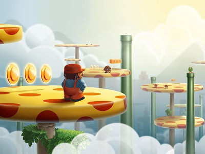 Mario Adventures funart    game art adventures photoshop illustration 2d mario