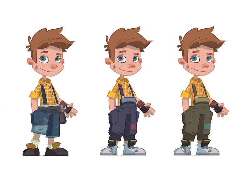 Sam Racer New Design car racer 2d character 2d animation 2d art mechnic character design boy 2d