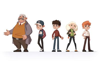 Best Team Characters cool kids girl 2d illustration school kids charachter design