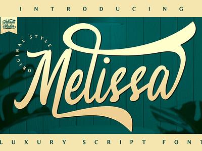 Melissa - Beautiful Luxury Font typography script font logo lettering illustration icon fonts font design font design branding