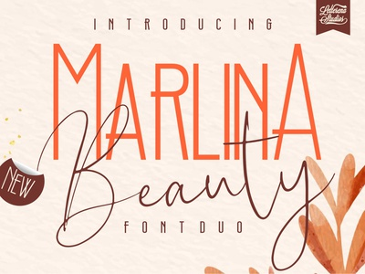 Marlina Beauty - Sans Serif andSignature Font typography script font logo lettering illustration icon fonts font design font design branding