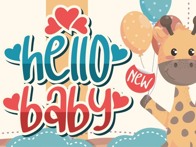 hello baby - Crafting Love Font typography script font logo lettering illustration icon fonts font design font design branding