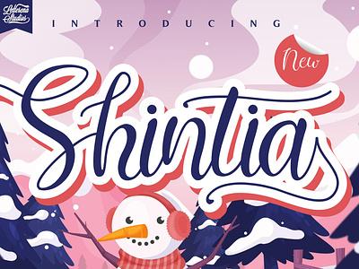 Shintia - Beautiful Script Font typography script font logo lettering illustration icon fonts font design font design branding