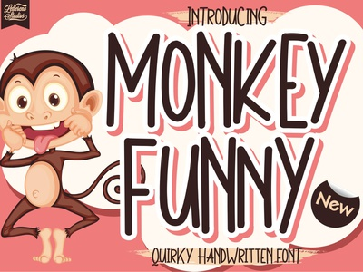 Monkey Funny - Quirky Handwritten Font typography script font logo lettering illustration icon fonts font design font design branding
