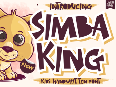 SIMBA KING - Quirky Handwritten Font typography logo icon script font lettering illustration fonts font design font design branding
