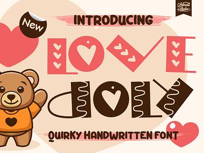 Love Doly - Quirky Handwritten Font typography logo icon script font lettering illustration fonts font design font design branding