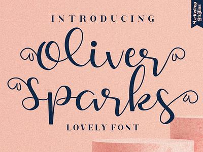Oliver Sparks - Beautiful Script Font typography logo icon illustration script font lettering fonts font design font design branding