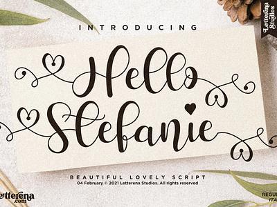 Hello Stefanie - Beautiful Lovely Script Font vector apparel apparel font typography logo icon illustration script font lettering fonts font design font design branding