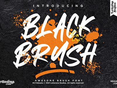 BLACK BRUSH - Awesome Brush Font typography logo icon illustration script font lettering fonts font design font design branding