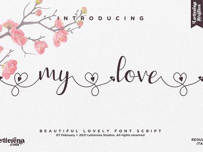 my love - Beautiful Lovely Script Font typography logo icon illustration script font lettering fonts font design font design branding