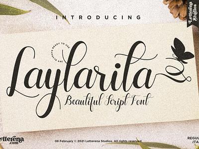 Laylarita - Beautiful Script Font apparel font typography logo icon illustration script font lettering fonts font design font design branding