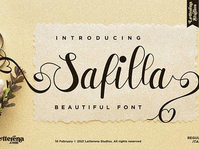 Safilla - Beautiful Script Font typography logo icon illustration script font lettering fonts font design font design branding