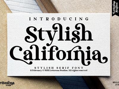 Stylish California - Stylish Serif Font vector apparel apparel font typography logo icon illustration script font lettering fonts font design font design branding