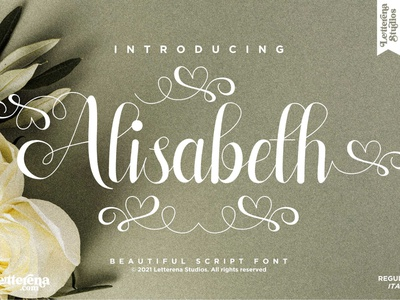 Alisabeth - Beautiful Script Font typography logo icon illustration script font lettering fonts font design font design branding