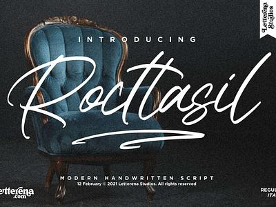 Rocttasil - Signature Script Font vector ui typography logo icon illustration script font lettering fonts font design font design branding
