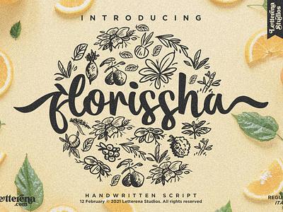 florissha - Beautiful Script Font vector ui typography logo icon illustration script font lettering fonts font design font design branding