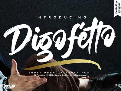 Digofetto - Strong Brush Font vector apparel apparel font typography logo icon illustration script font lettering fonts font design font design branding