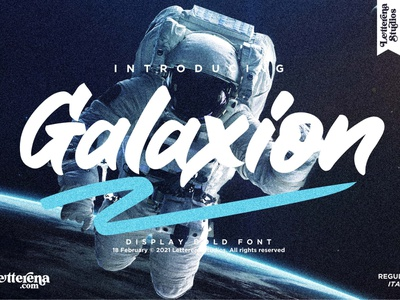 Galaxion - Strong Display Font typography logo icon illustration script font lettering fonts font design font design branding