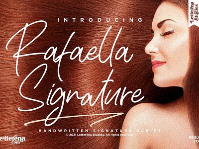 Rafaella Signature - Signature Script Font typography logo icon illustration script font lettering fonts font design font design branding