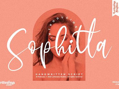 Sophitta - Signature Script Font logo icon illustration script font vector lettering fonts font design font design branding