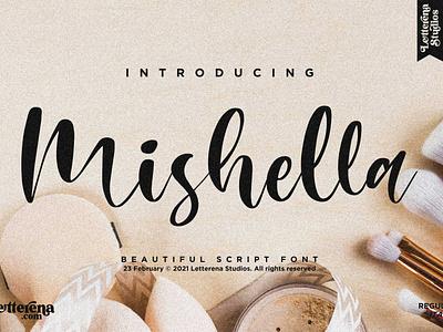 Mishella - Beautiful Script Font logo icon illustration script font lettering fonts font design font design branding