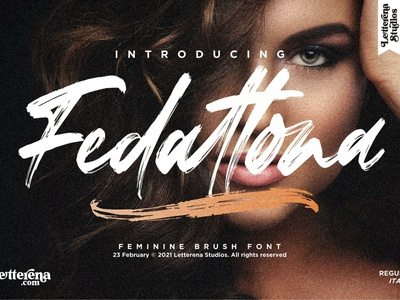 Fedattona - Feminine Brush Font typography logo icon illustration script font lettering fonts font design font design branding