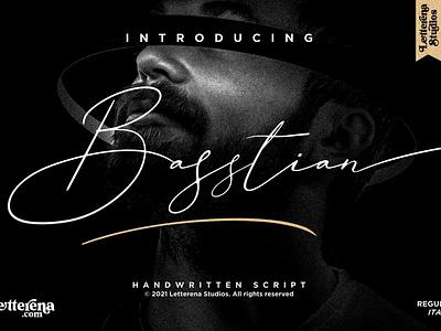 Basstian - Signature Script Font apparel font typography logo icon illustration script font lettering fonts font design font design branding