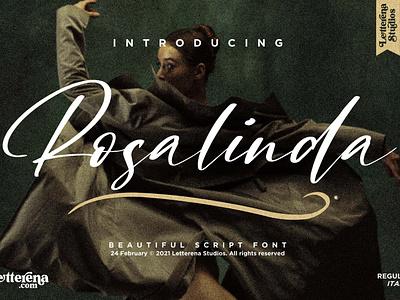 Rosalinda - Beautiful Script Font typography logo icon illustration script font lettering fonts font design font design branding