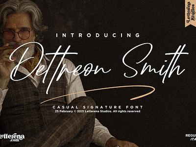 Dettreon Smith - Signature Script Font apparel font typography logo icon illustration script font lettering fonts font design font design branding