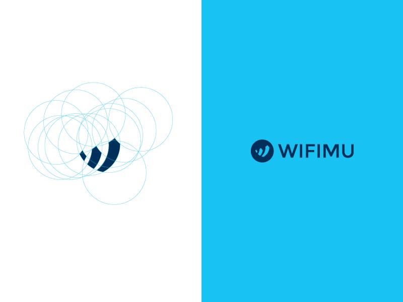 WIFIMU Logo indonesia app startup corporate blue logo wifimu