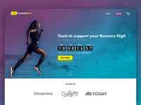 Landing page for Running Subscription Box Startup