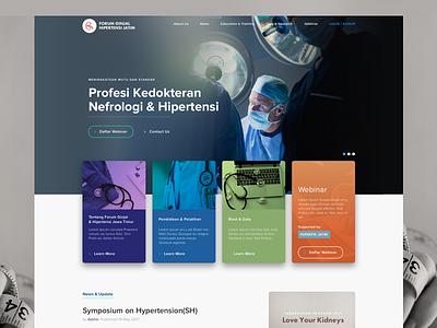 Medical Kidney Association Website healthcare website association care health kidney medical doctors dark blue
