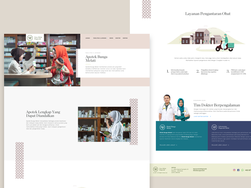 Pharmacy service page pharmacist pharmacy white website ux ui medical landingpage hospital clinic clean