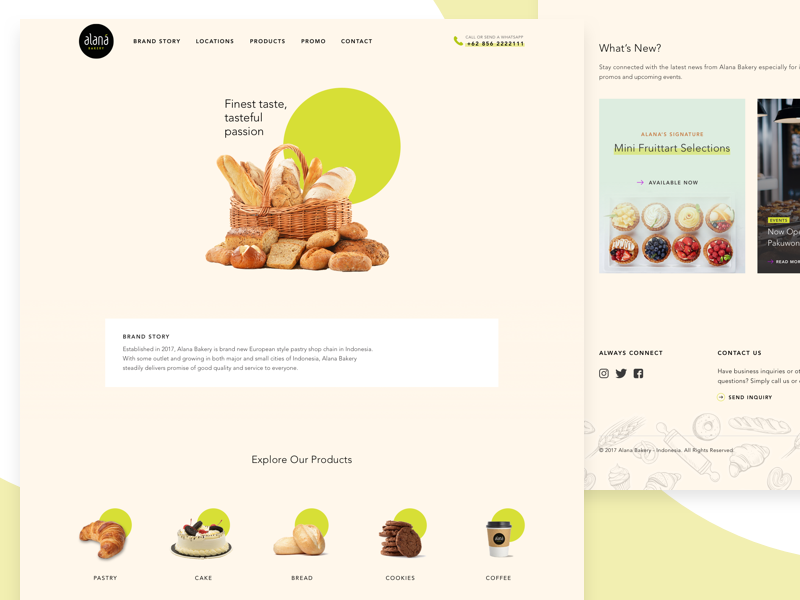 Alana Bakery Website 🍞  🥖  🥐 minimalism food bread simple ux ui website bakery cakeshop shop cake
