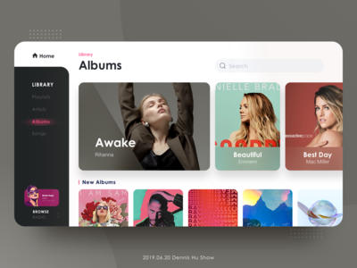 Music  interface redesign · white