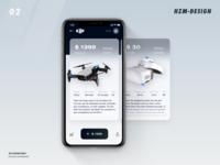 DJI product UI design