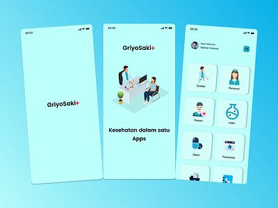 "Hospital Apps - Exploration ""griyosakit"" ui design ui exploration medical apps apps mobile ios minimal iphone hospital hospital apps doctor booking apps doctor apps pharmachy app pharmacy"