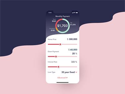 Daily UI #004 - Calculator design app mortgage calculator calculator dailyui004 dailyuichallenge ui dailyui