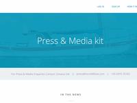 Press & Media Kit Page