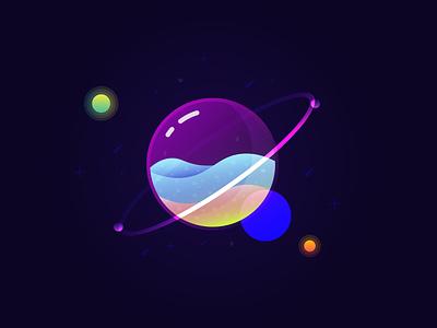 Dreamy Planet illustration art illustrations glossy illustrator design illustration